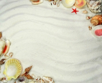 """Линолеум """"Белый песок, ракушки, рисунок на песке"""". Напольное покрытие купить."""