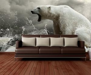 """Фотообои """"Белый медведь Зовущий"""""""