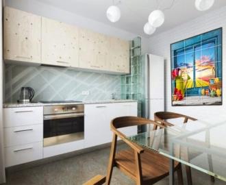 Плитка с рисунком на стену для кухни ОКНО ПАСХАЛЬНЫЕ ЯИЧКИ