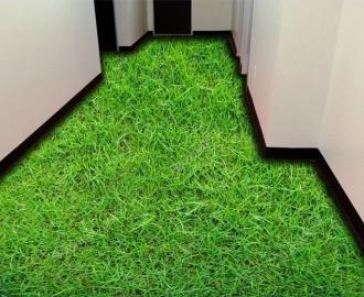 """Обои для пола в комнату """"Трава, газон"""" купить визуализация №1"""