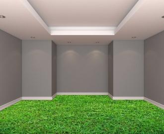 """Обои для пола в комнату """"Трава, газон"""" купить визуализация №2"""