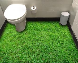 """Обои для пола в комнату """"Трава, газон"""" купить визуализация №3"""