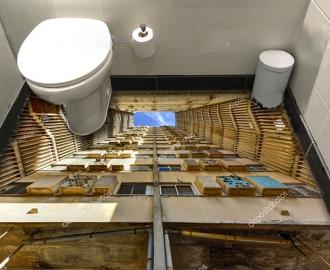 """Линолеум с рисунком """"Деревянная шахта лифта"""" купить"""
