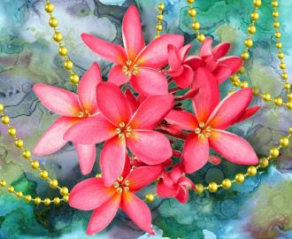 """Фотообои на стену  """"Розовые цветы"""""""