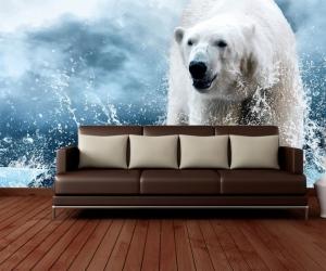 """Фотообои """"Белый медведь Северный Полис"""""""
