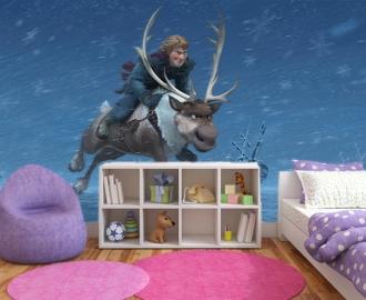 """Фотообои для детской комнаты """"Холодное сердце, Кристофф и Свен"""" . Фото, цена."""
