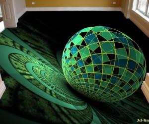 """Линолеум с рисунком """"Абстракция шар"""" купить"""