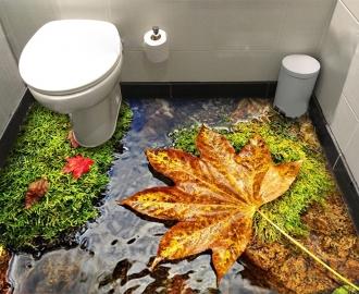 """Линолеум с рисунком """"Осень, кленовый лист"""" купить"""