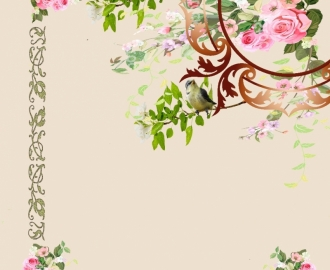 """Линолеум """"Роза, птички"""" индивидуальный дизайн  Напольное покрытие купить."""