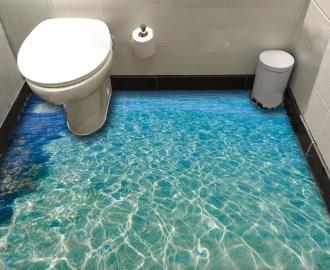 """Линолеум в ванную комнату Морская гладь, берег"""" купить"""