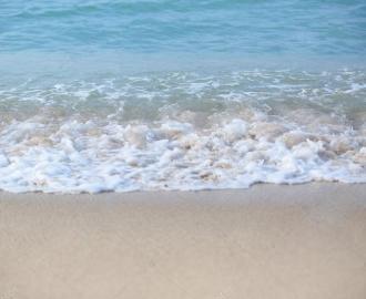 """Линолеум в ванную комнату """"Волны, побережье"""" купить"""