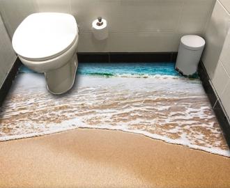 """Линолеум в ванную комнату """"Океан, золотые пески"""" купить"""