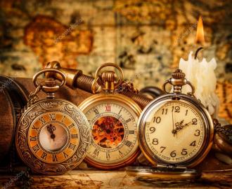 """Наклейка на пол """"Старинные карманные часы"""". Половые наклейки, печать для наливного пола."""