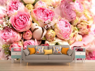 """Фотообои """"Розы, бутоны, розовые"""""""