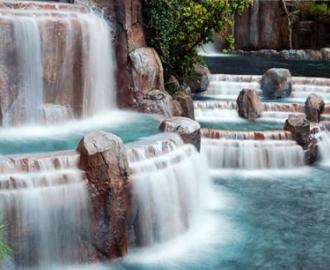 """Фотообои на стену купить """"Водопад, камни, зеленый Лес"""""""