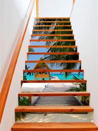 Обои дизайн для лестницы ДОМИК НА БЕРЕГУ ОКЕАНА