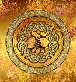 Напольное покрытие с орнаментом Напольное покрытие с орнаментом ДЕРЕВО в КРУГЕ ЗОЛОТО