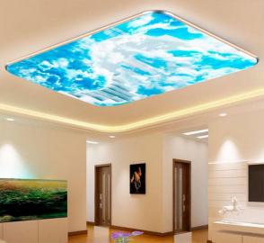 Фотообои на потолок БЕЛЫЕ ОБЛАКА ВИНТОВАЯ ЛЕСТНИЦА В НЕБО