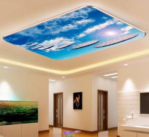 Фотообои на потолок ДОРОЖКА ИЗ КАМНЕЙ В НЕБО
