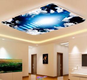 Фотообои на потолок ЛЕСТНИЦА В НОЧНОЕ НЕБО