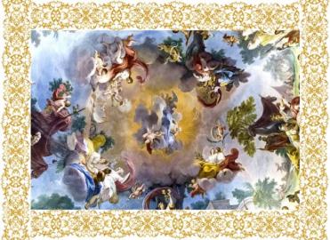 Фотообои на потолок БИБЛЕЙСКИЕ ИСТОРИИ ЗОЛОТОЙ