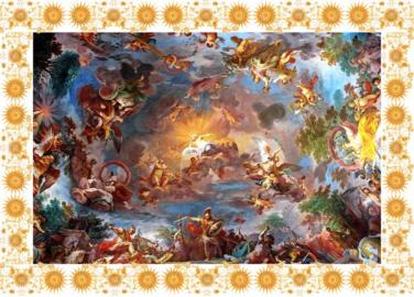Фотообои на потолок БИБЛЕЙСКИЕ ИСТОРИИ ЗОЛОТАЯ РАМКА