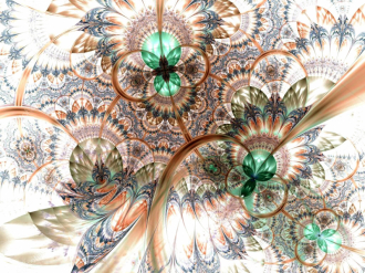 Линолеум с необычным рисунком ИЗУМРУДНЫЕ ЦВЕТЫ БЕЛЫЙ ФОН купить