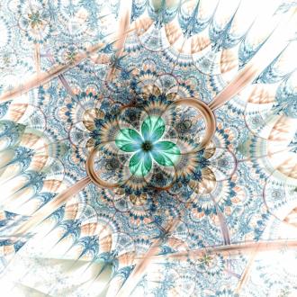 Линолеум с необычным рисунком ЦВЕТОК ПЕРЬЯ КРАСОК купить