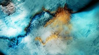 """Линолеум с необычным рисунком """"Расщелина в скале"""" купить"""