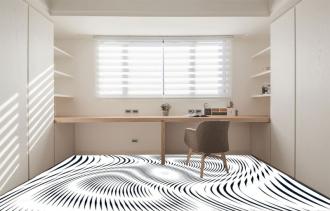 """Линолеум с необычным рисунком """"Геометрический,оптическая иллюзия, черно-белый"""" №1011 купить"""
