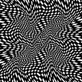 """Линолеум с необычным рисунком """"Геометрический,оптическая иллюзия, черно-белый"""" №1018 купить"""