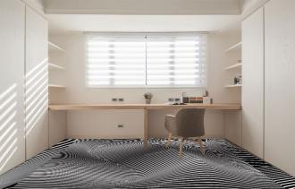"""Линолеум с необычным рисунком """"Геометрический,оптическая иллюзия, черно-белый"""" №1001 купить"""