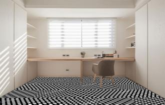"""Линолеум с необычным рисунком """"Геометрический,оптическая иллюзия, черно-белый"""" №1019 купить"""