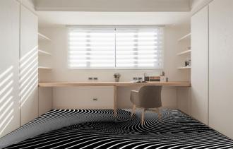 """Линолеум с необычным рисунком """"Геометрический,оптическая иллюзия, черно-белый"""" №1002 купить"""
