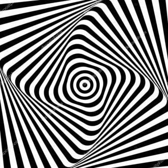 """Линолеум с необычным рисунком """"Геометрический,оптическая иллюзия, черно-белый"""" №1006 купить"""