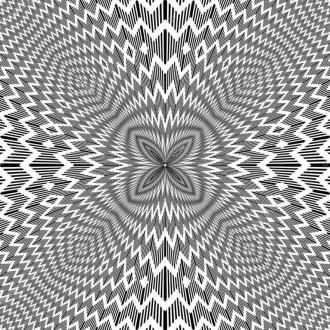 """Линолеум с необычным рисунком """"Геометрический,оптическая иллюзия, черно-белый"""" №1007 купить"""