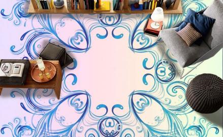 Напольное покрытие с рисунком Обои, Линолеум СИММЕТРИЧНЫЙ УЗОР