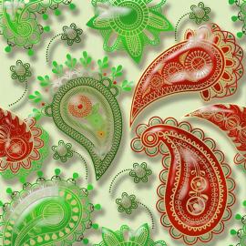 Напольное покрытие с рисунком Обои, Линолеум ВОСТОЧНЫЙ УЗОР 3D