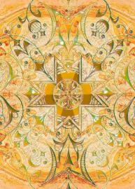 Напольное покрытие с рисунком Обои, Линолеум УЗОР КРЕСТОМ НА МРАМОРЕ