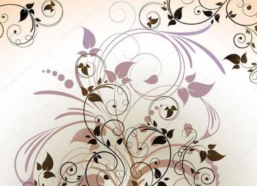 Напольное покрытие с рисунком Обои, Линолеум КОРИЧНЕВЫЕ ЛИНИИ