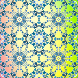 Напольное покрытие с рисунком Обои, Линолеум СИММЕТРИЧНЫЙ ЦВЕТОЧНЫЙ УЗОР