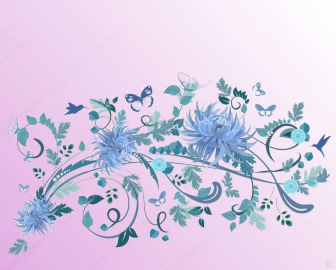 Напольное покрытие с рисунком Обои, Линолеум ВЕТКА С ЦВЕТАМИ РОЗОВЫЙ ФОН