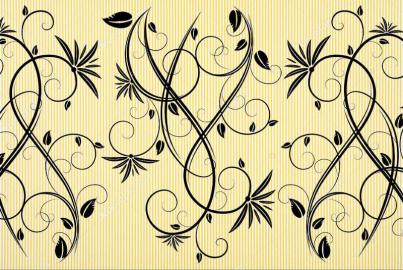 Напольное покрытие с рисунком Обои, Линолеум УЗОРЫ НА ЖЕЛТОМ ФОНЕ
