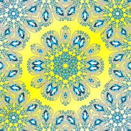 Напольное покрытие с рисунком Обои, Линолеум УЗОРЫ КАМНИ НА ЖЕЛТОМ ФОНЕ