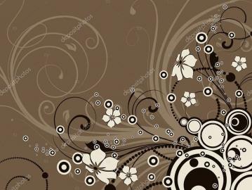 Напольное покрытие с рисунком Обои, Линолеум КОРИЧНЕВЫЙ ФОН УЗОРЫ