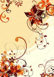 Напольное покрытие с рисунком Обои, Линолеум ЖЕЛТЫЙ ФОН ЦВЕТЫ