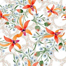 Напольное покрытие с рисунком Обои, Линолеум ЛИЛИИ