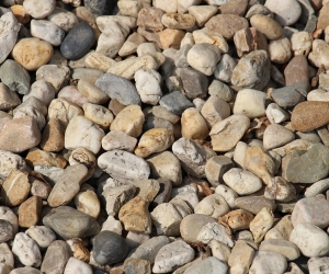 "3д обои на пол ""Камни"""