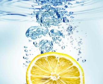 """Плитка с изображением """"Лимон, вода, пузырьки"""""""